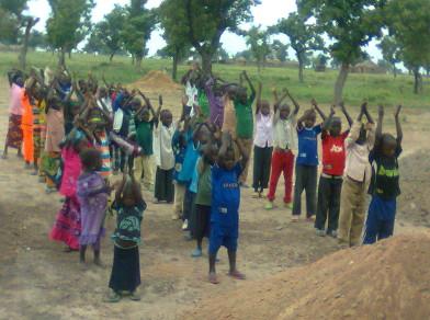 About 100 children attend this school