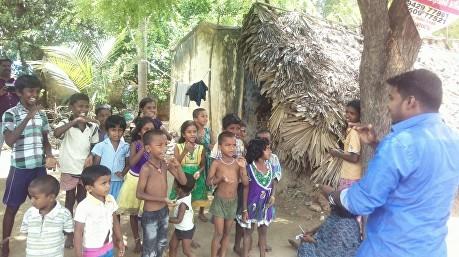 Picture 3 AMEN Children in village