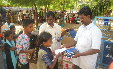 Picture 5 NT distributed to children