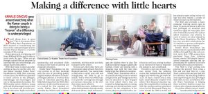 An excellent article in a major Indian newspaper about our AMEN partners Francis & Alison.